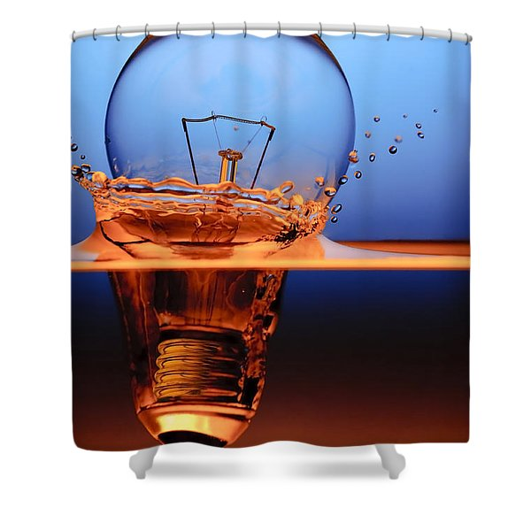 Light Bulb And Splash Water Shower Curtain