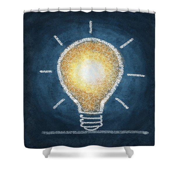 Light Bulb Design Shower Curtain