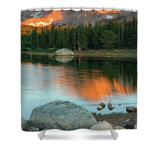 Shower Curtain featuring the photograph Light Of The Mountain by John De Bord