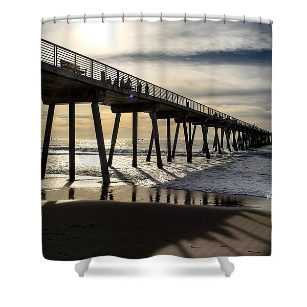 Light Of The Pier  Shower Curtain