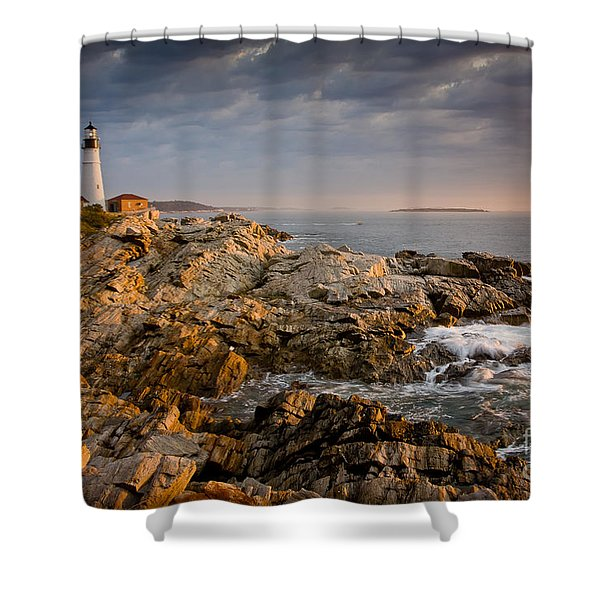 Light On Portland Head Shower Curtain