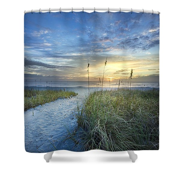 Light On The Dunes Shower Curtain