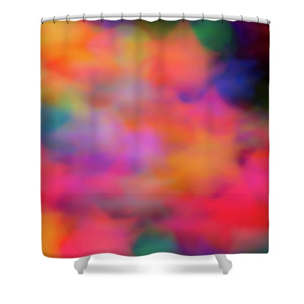 Lucky Neon Stars Shower Curtain