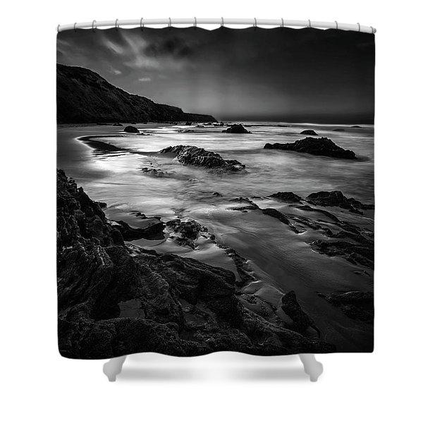 Light Passages Bw Shower Curtain