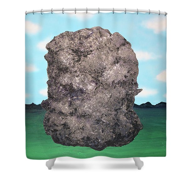 Light Rock Shower Curtain