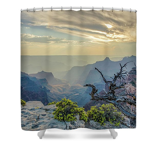 Light Seeks The Depths Of Grand Canyon Shower Curtain