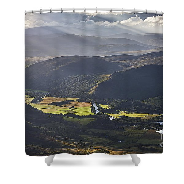 Light Streams, Kinloch Rannoch Shower Curtain