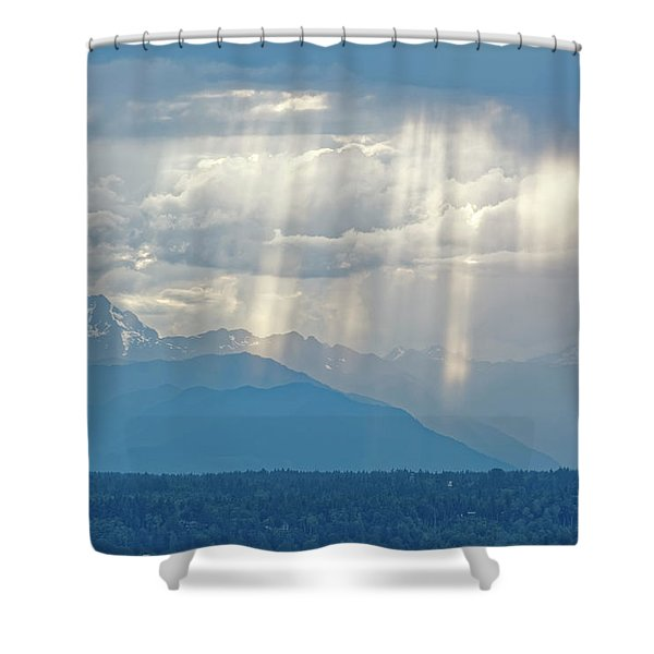 Light Through Clouds Shower Curtain
