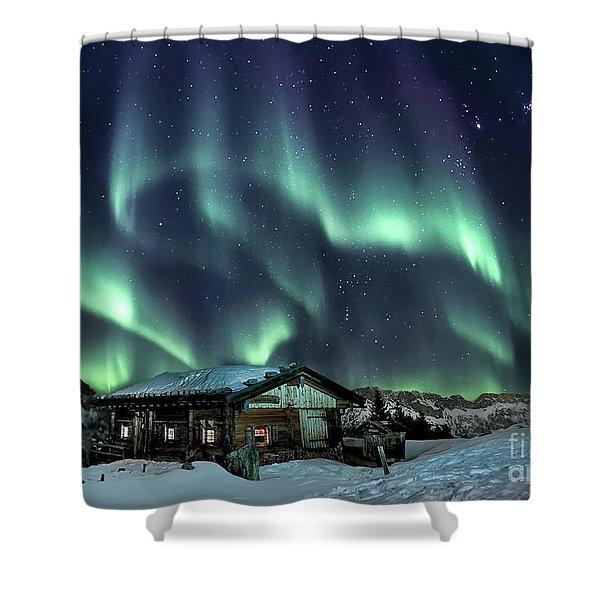 Light Through The Night Shower Curtain