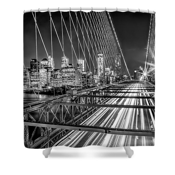 Light Trails Of Manhattan Shower Curtain