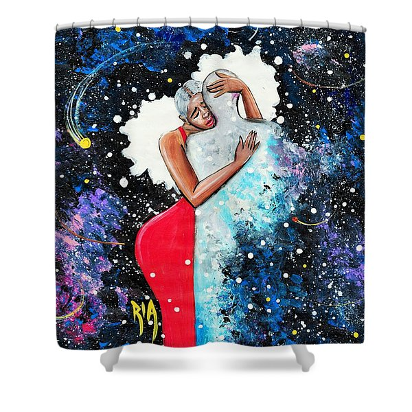 Light Years For Love Shower Curtain