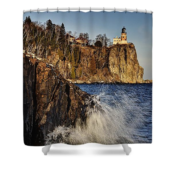 Lighthouse And Spray Shower Curtain