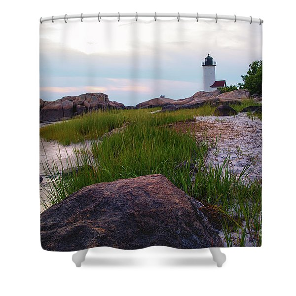 Lighthouse At Dusk Shower Curtain