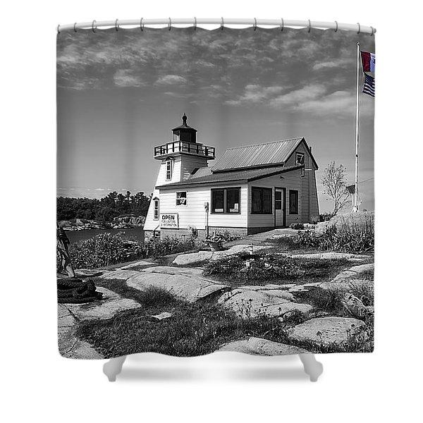 Lighthouse For Neighbors Shower Curtain