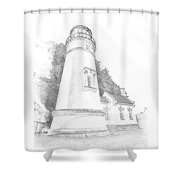 Lighthouse In Oregon Shower Curtain