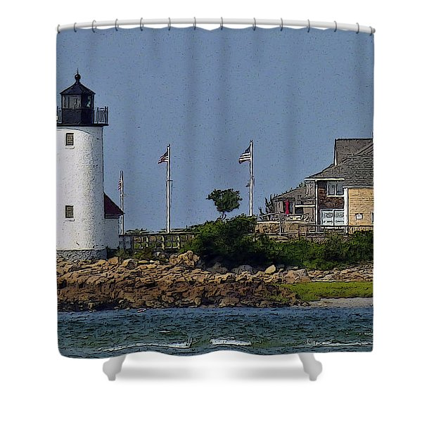 Lighthouse In The Ipswich Bay Shower Curtain