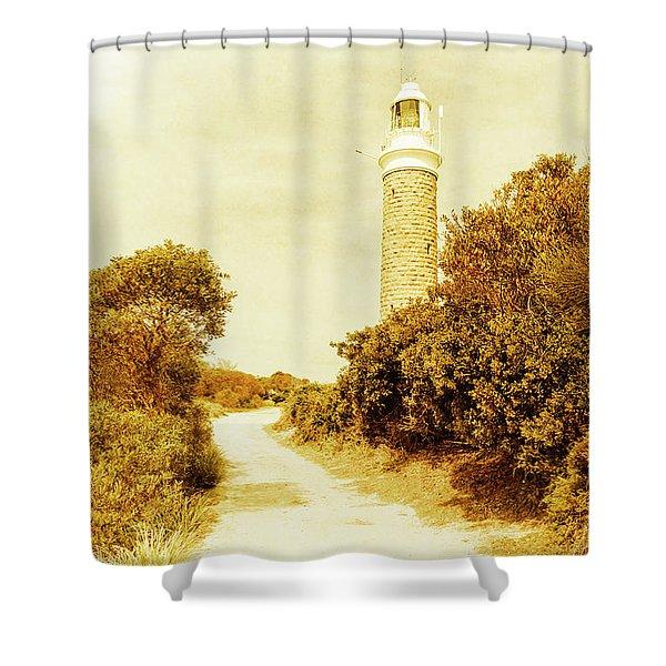 Lighthouse Lane Shower Curtain