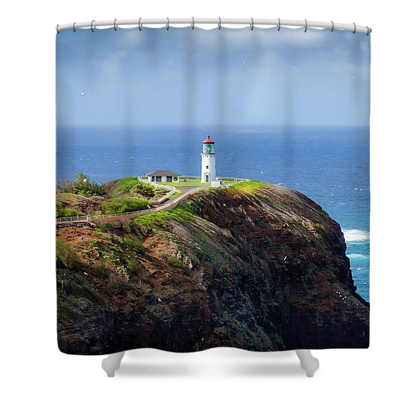 Lighthouse On A Cliff Shower Curtain