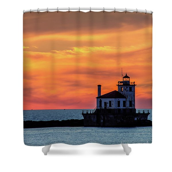Lighthouse Silhouette Shower Curtain