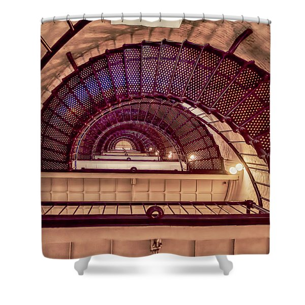 Lighthouse Stairwell Shower Curtain