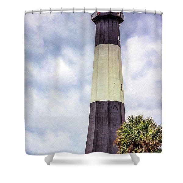 Lighthouse - Tybee Island, Georgia Shower Curtain