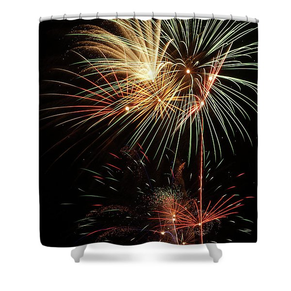 Lighting Up The Night Shower Curtain
