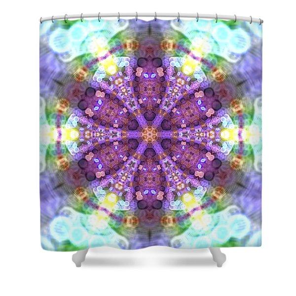 Shower Curtain featuring the digital art Lightmandala 6 Star 2 by Robert Thalmeier