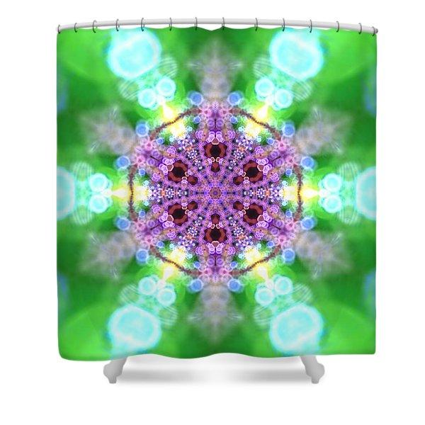 Shower Curtain featuring the digital art Lightmandala 6 Star 3 by Robert Thalmeier