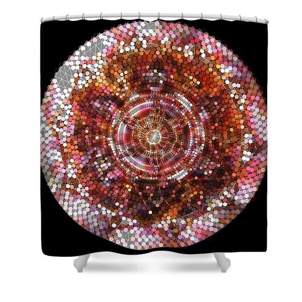 Shower Curtain featuring the digital art Lightmandala 6 Star Morp 5 by Robert Thalmeier