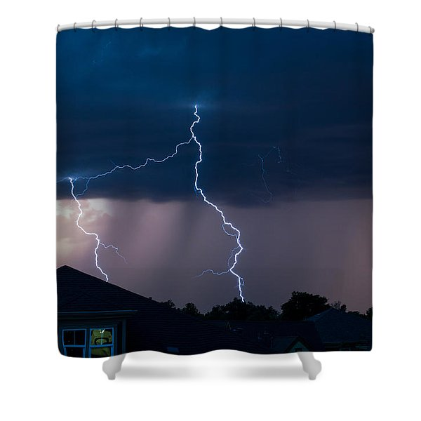 Lightning 2 Shower Curtain