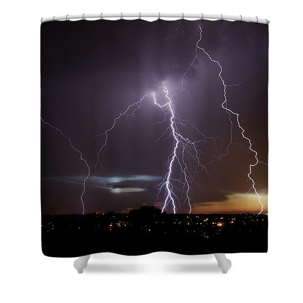 Lightning At Dusk Shower Curtain