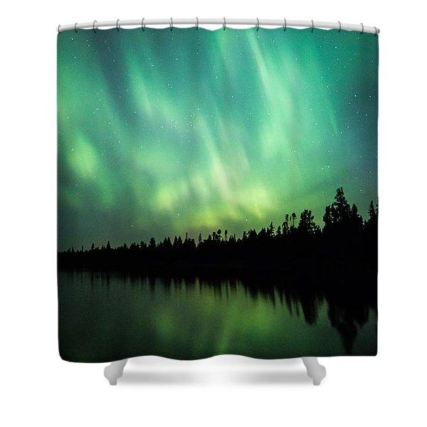Lights Over Moose Lake Shower Curtain