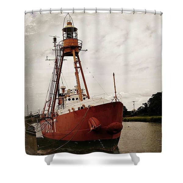 Lightship Nantucket Wlv-613 At Wareham Shower Curtain
