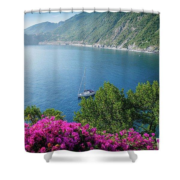 Ligurian Sea, Italy Shower Curtain