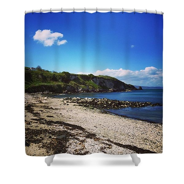 By Rocky Shores Shower Curtain