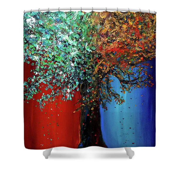 Like The Changes Of The Seasons Shower Curtain