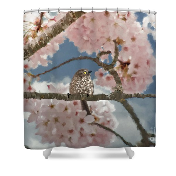 Lil Bushtit Shower Curtain
