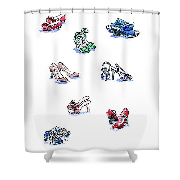 L'il Shoes Shower Curtain