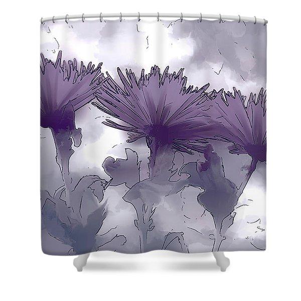 Lilac Fancy Shower Curtain