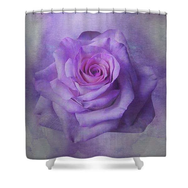 Lilac Purple Rose Shower Curtain