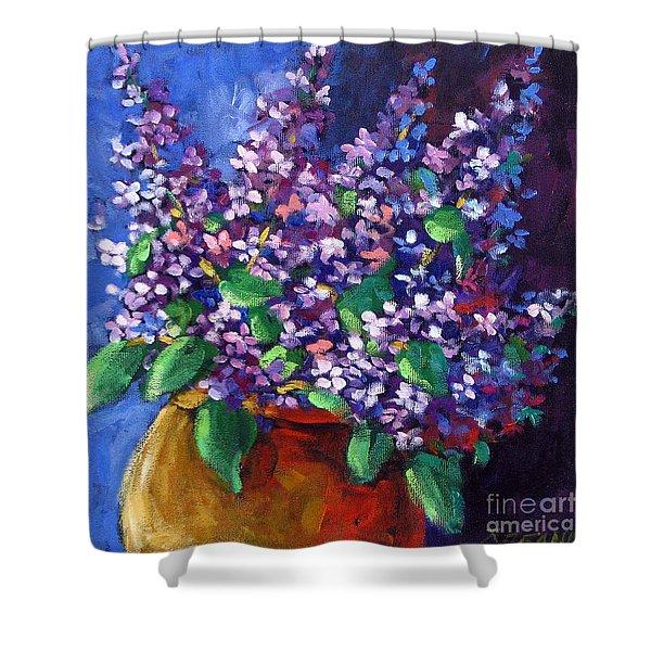 Lilacs Bouquet By Prankearts Shower Curtain