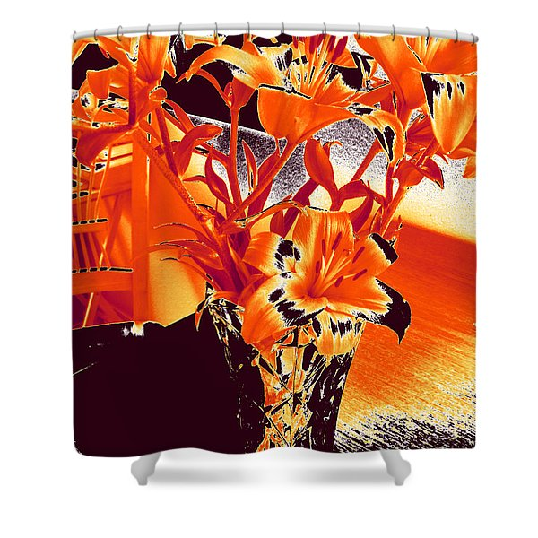 Lilies #2 Shower Curtain