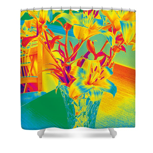 Lilies #3 Shower Curtain