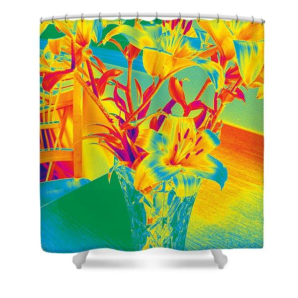 Lilies #3 Shower Curtain