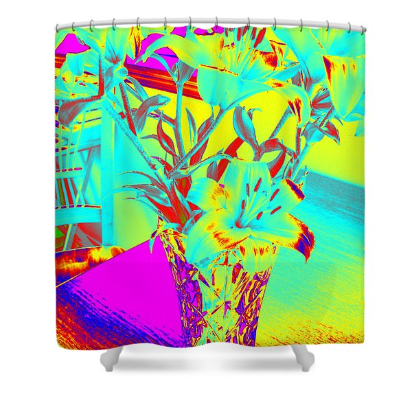 Lilies #4 Shower Curtain