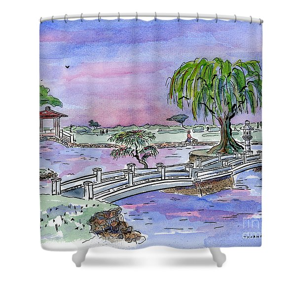 Liliuokalani Park Hilo Hawaii Shower Curtain