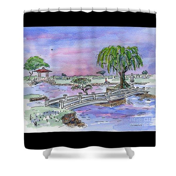 Liliuokalani Park Hilo Hawaii Shower Curtain