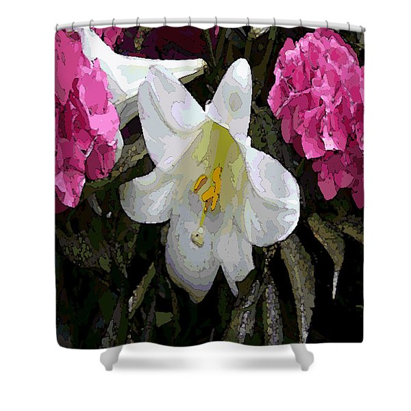 Lillie Pastel Painting Shower Curtain