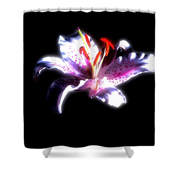 Lilly Flower  Shower Curtain