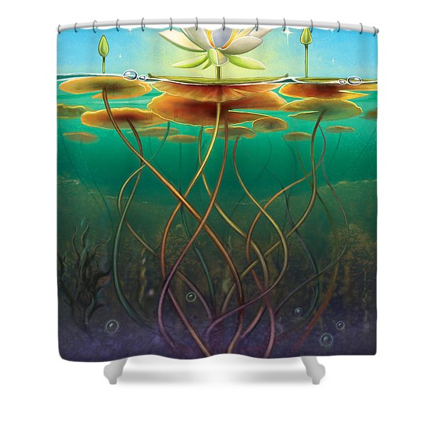 Water Lily - Transmute Shower Curtain